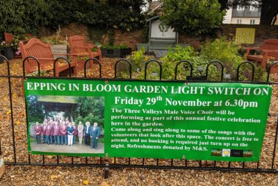 Epping In Bloom Garden Light Switch-on @ The Community Garden